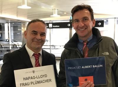 Kreuzflug mit der Albert Ballin - Mein Empfang in Zürich